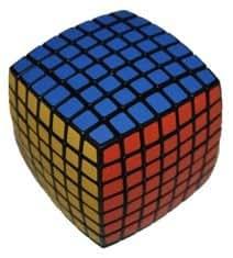 キューブセブン Cuve Seven 7x7x7 少し球面になった6面体 回転させて面合わせ(上級者向け)