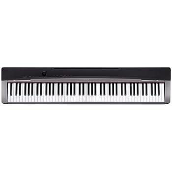 CASIO 電子ピアノ Privia ブラックメタリック調 鍵盤数88標準ピアノ形状鍵盤 PX-130BK