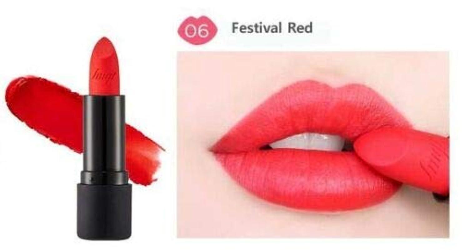 有毒なレルム生産性[ザ?フェイスショップ] THE FACE SHOP [ルージュ トゥルー マット 3.6g] Rouge True Matte 3.6g [海外直送品] (#6. Festival Red)