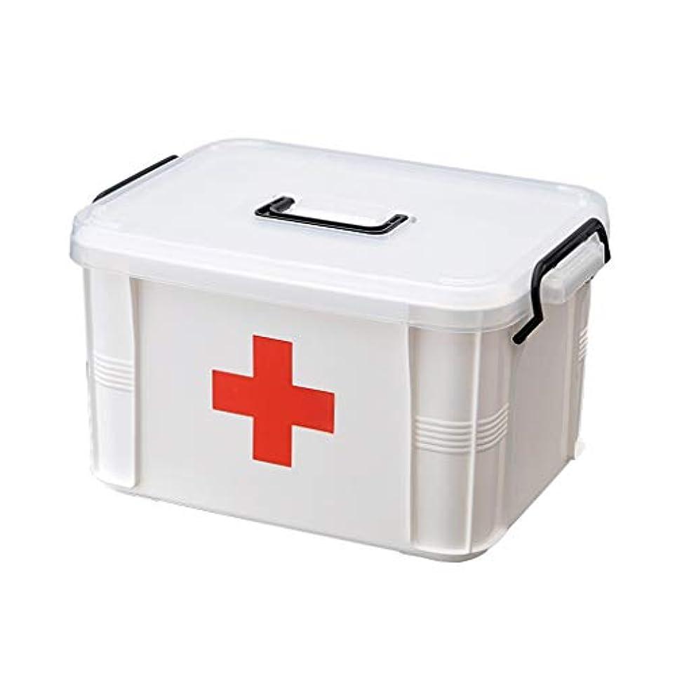 バレルテロリストスカープYxsd 応急処置キット 救急箱救急箱箱、2層の子供の救急箱プラスチック大きい医学の収納箱、L/M/S (Size : S)