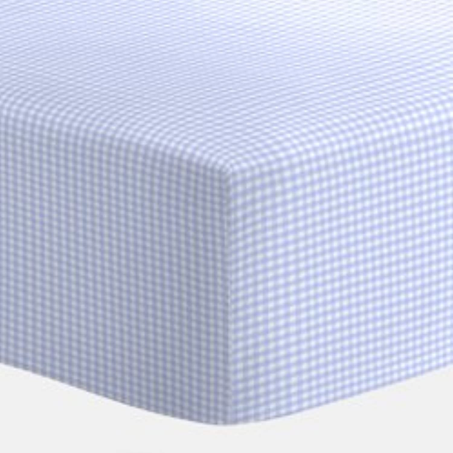 Light Blue Gingham Bassinet Sheet - size: 13x29 by Baby Doll