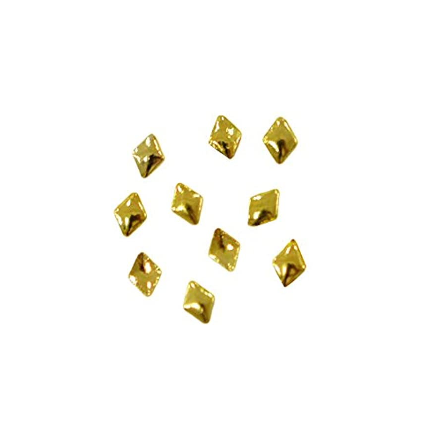 二次愛情深い破壊的メタルスタッズ ぷっくり 菱型のメタルスタッズ ランバス 2mm×3mm ゴールド 10個 MP10151 /プリンセスネイル