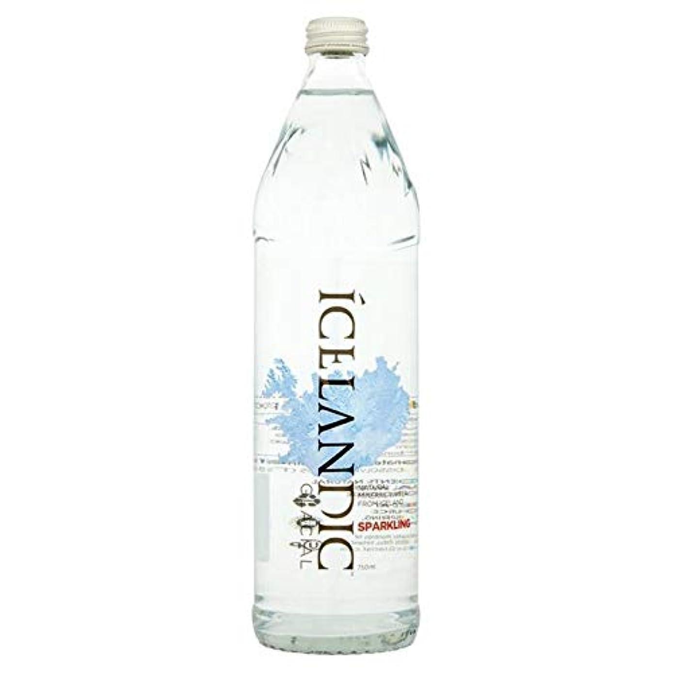 動機イブニング魚[Icelandic ] アイスランドの氷河輝くミネラルウォーターガラスボトル750ミリリットル - Icelandic Glacial Sparkling Mineral Water Glass Bottle 750ml...