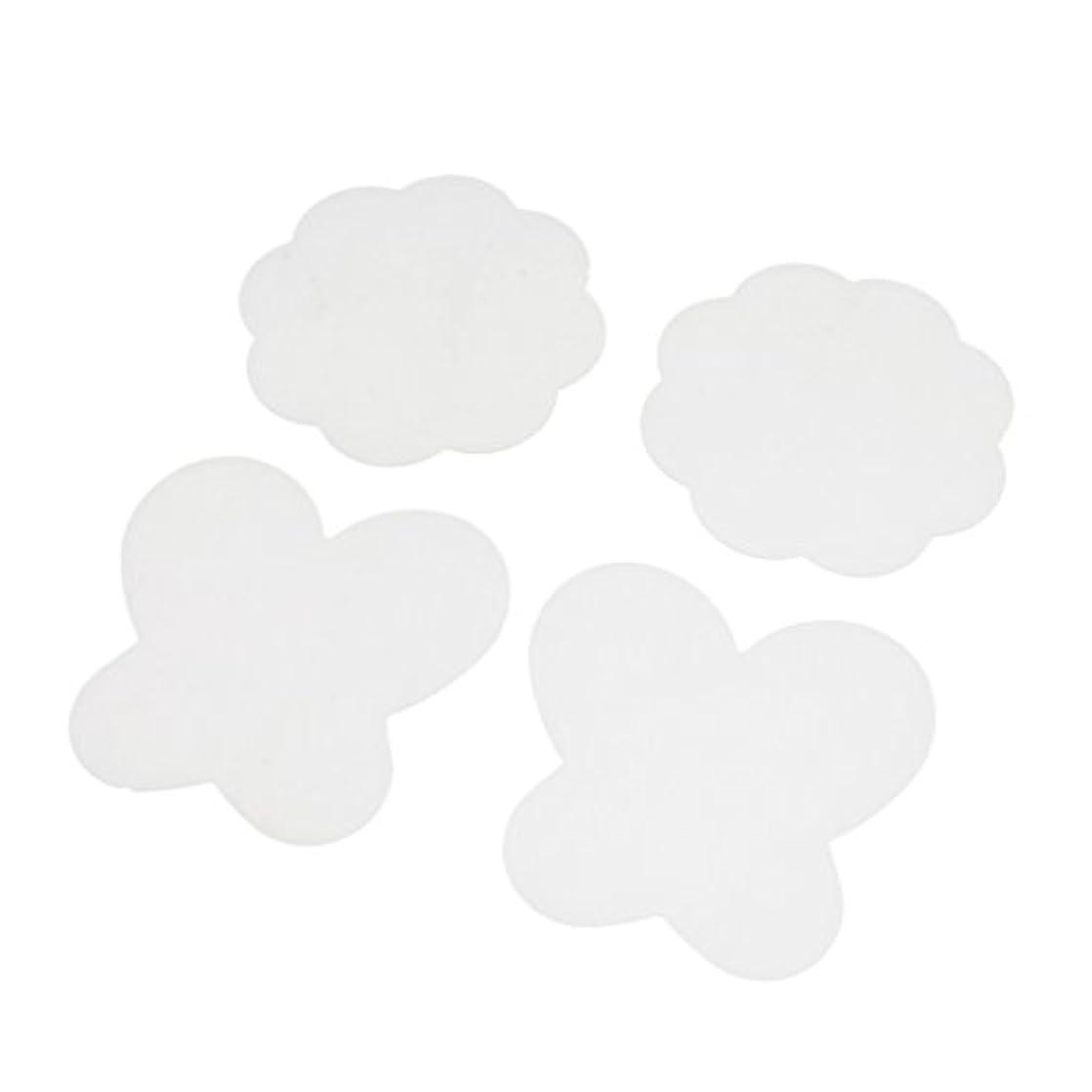 飛躍接触遅らせるPerfeclan 4個入 シリコン ミキシングペイント マット パレットマット 折り畳み式 洗える ネイルアートパッド 全4色 - クリア