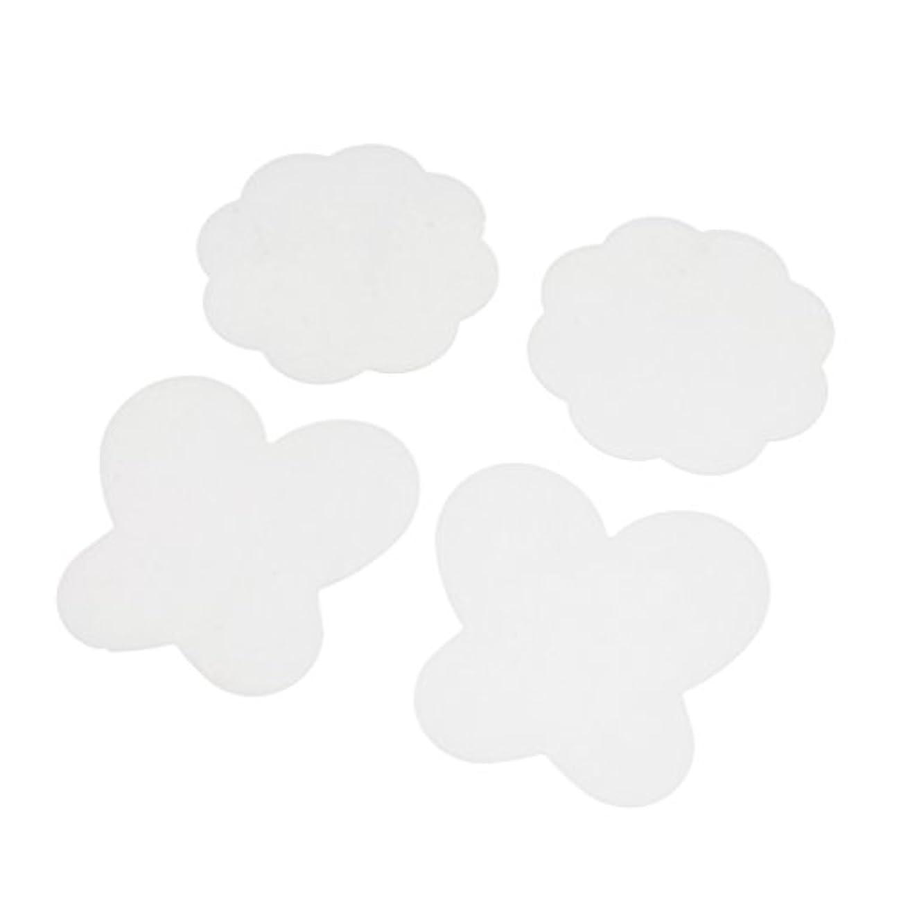 Perfeclan 4個入 シリコン ミキシングペイント マット パレットマット 折り畳み式 洗える ネイルアートパッド 全4色 - クリア