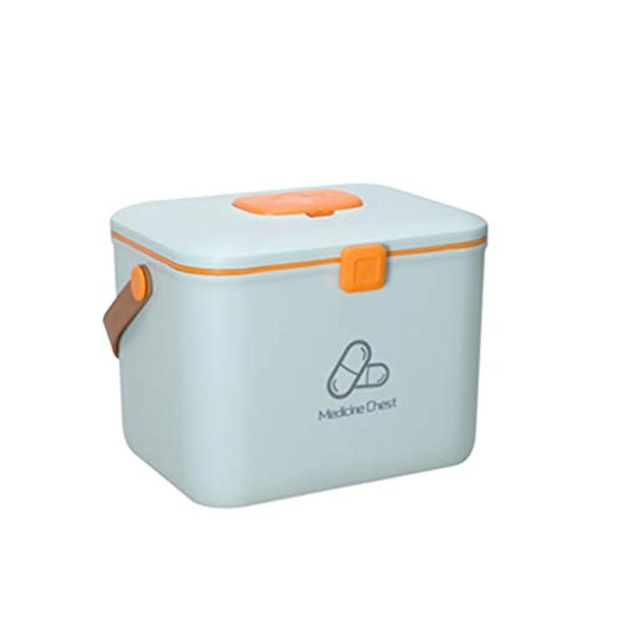 繰り返し致命的な診断するSGLI 医療用収納ボックス、ポータブル救急箱、在宅医療用キャビネット (Color : Blue, Size : 25cm×19cm)