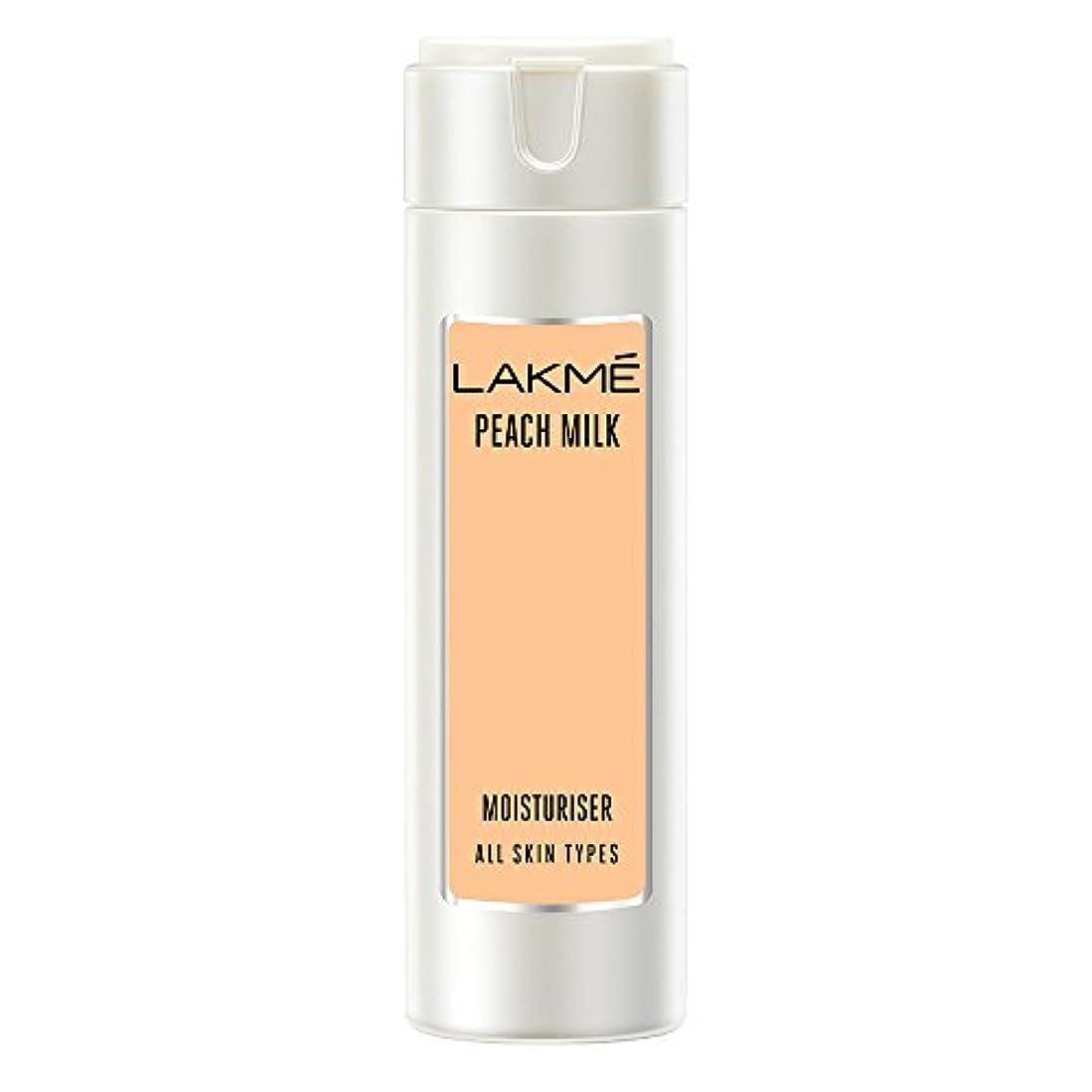 マウンド整理するワームLakme Peach Milk Moisturizer Body Lotion, 120ml