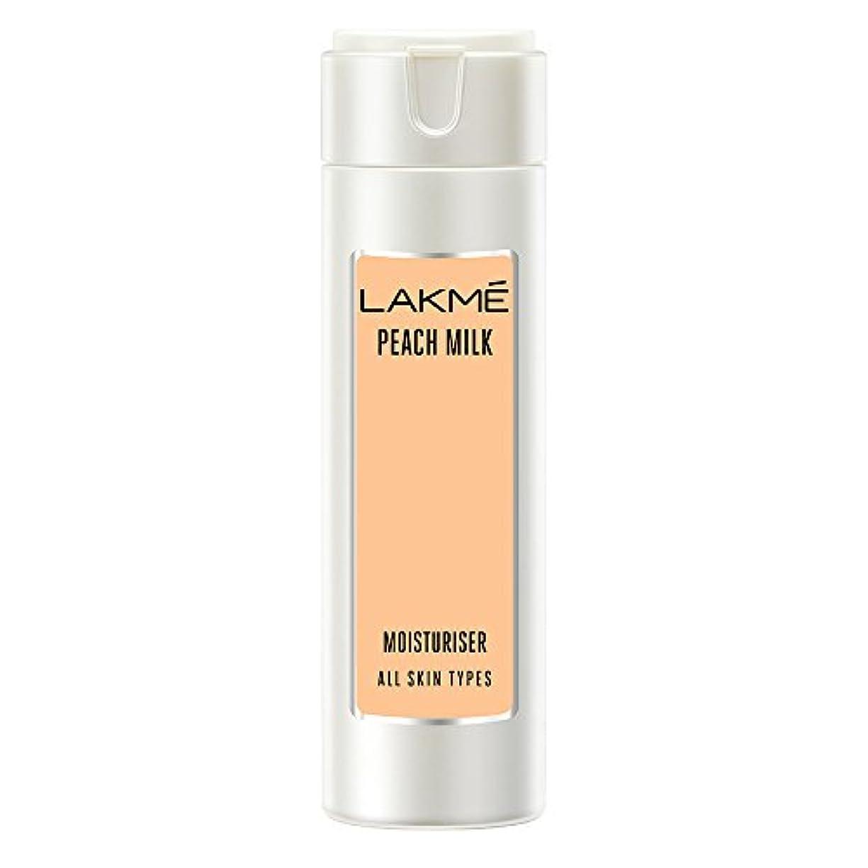 プロトタイプタクシー説教Lakme Peach Milk Moisturizer Body Lotion, 120ml
