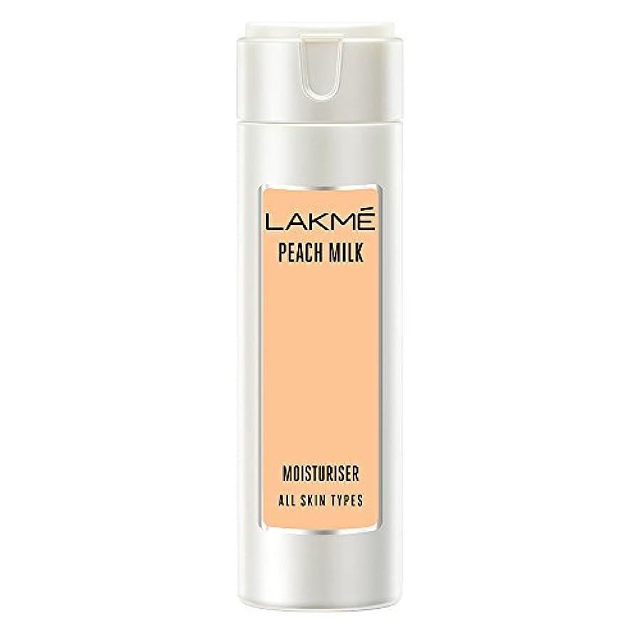 フィールド大声で章Lakme Peach Milk Moisturizer Body Lotion, 120ml