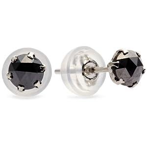[ディーコレクション] D-COLLECTION プラチナブラックダイヤモンドピアス【合計0.5ct/鑑別カード付】 DTE00602