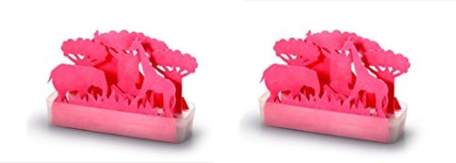 思春期のまさに湿気の多い積水樹脂 自然気化式ECO加湿器 サバンナPI ピンク お徳用2個セット