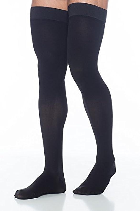 風刺狂気カッターSigvaris Access 973NMLM99 30-40 mmHg Mens Closed Toe Thigh Highs, Black, Medium-Long by Sigvaris