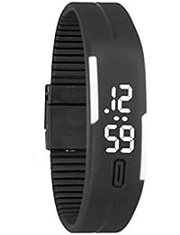 Goenn レディース ファッション腕時計 シリコーン デジタル LED スポーツブレスレット ウォッチ ユニセックス プレゼント 誕生日 (M)