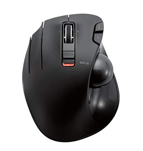 エレコム ワイヤレスマウス トラックボール 左手用 6ボタン ブラック M-XT4DRBK