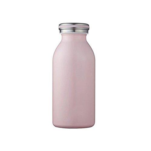牛乳瓶みたい!モッシュのステンレスボトルは置くだけでおしゃれ♩