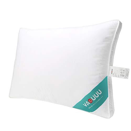 VADUUU 枕 安眠 快眠枕 首・頭・肩をやさしく支えるマクラ 人気 肩こり対策 いびき防止 頚椎サポート 高反発枕 高級 寝具 ホテル仕様まくら 家族のプレゼント おすすめ 43x63cm(ホワイト)