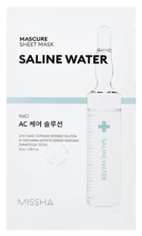 眠いです保証する協同[Missha] Mascure Sheet Mask 28ml*5ea/[ミシャ]マスキュアシートマスク28ml * 5枚 (#Saline Water) [並行輸入品]
