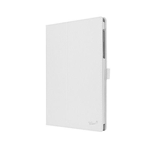 wisers 保護フィルム・タッチペン付 東芝 Toshiba dynabook Tab S80/A 2016年4月発表モデル タブレット 専用 ケース カバー ホワイト