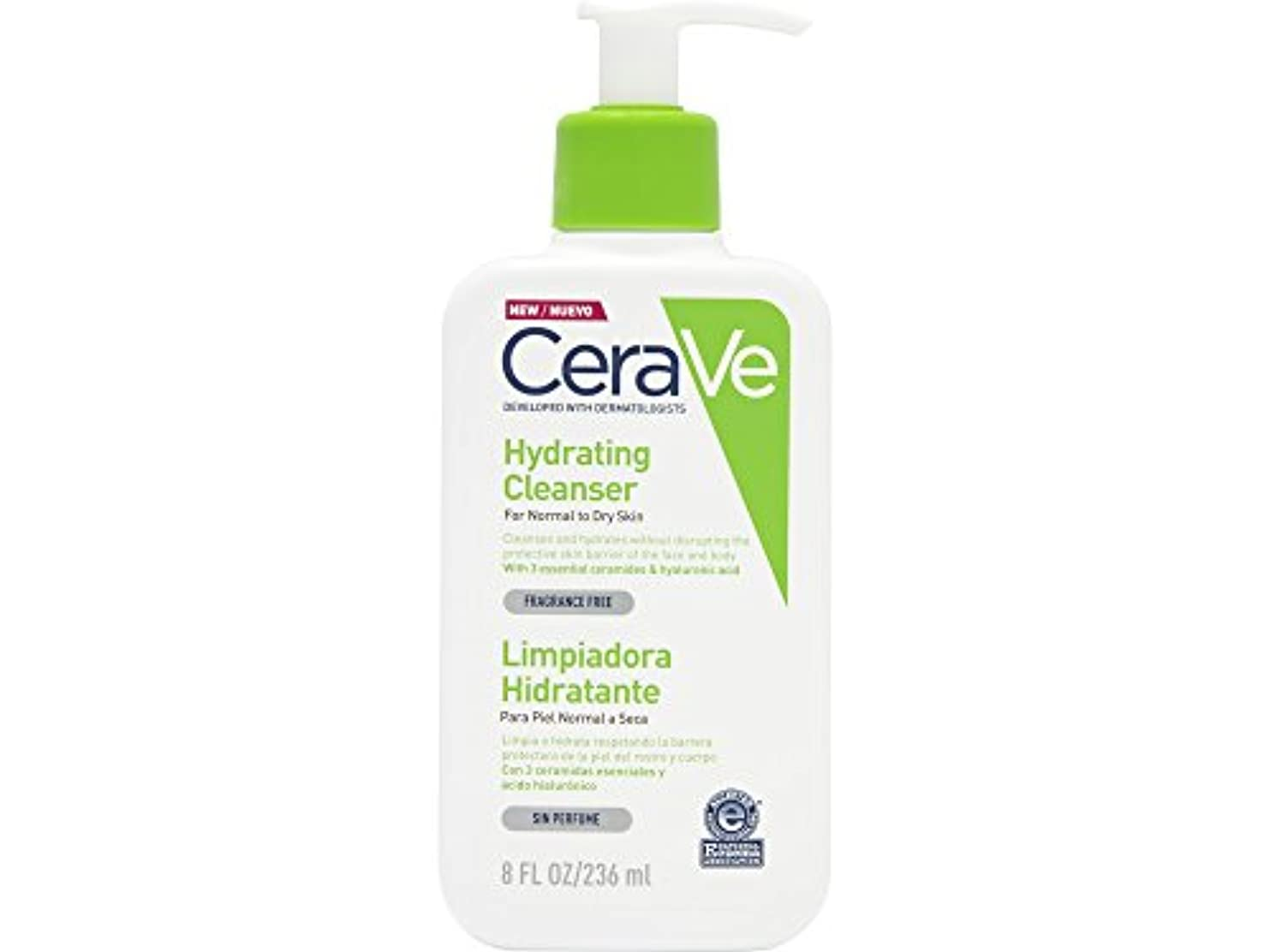 進捗四回樹皮Cerave Moisturizing Cleansing Lotion 236ml [並行輸入品]