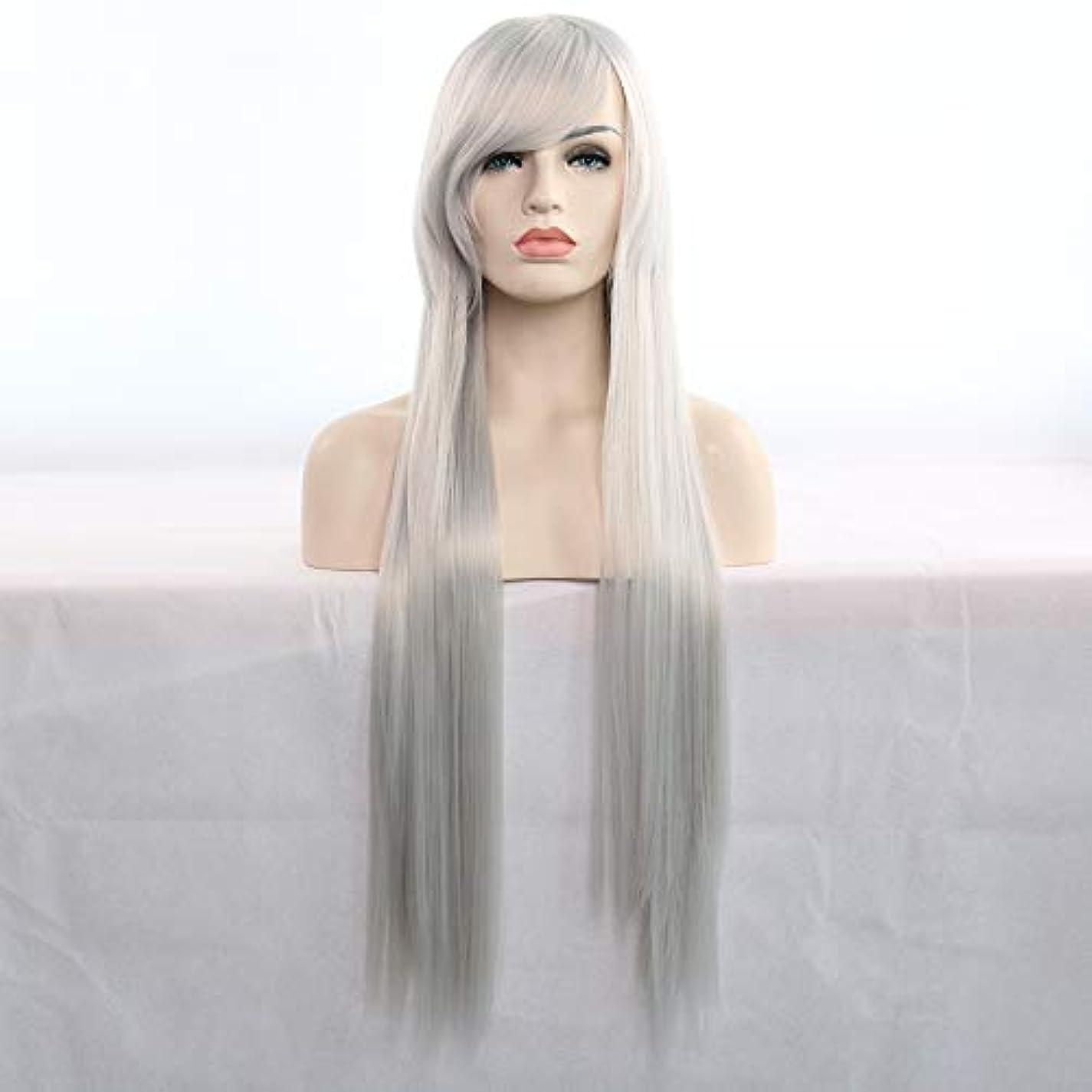 鎖心配するおじいちゃん女性のための前髪人工毛ウィッグ耐熱性繊維コスプレウィッグと30