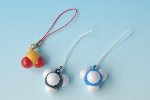 分子模型ストラップ 3個セットB 二酸化硫黄・メタン・アンモニア
