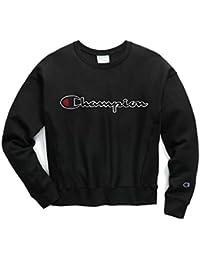(チャンピオン) Champion Women's Reverse Weave Crew Chenille Script Logo レディース トップス プルオーバー スウェット トレーナー クルーネック 長袖 裏起毛...