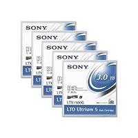 (まとめ)SONY(ソニー) LTX1500GR LTO Ultrium5 データカートリッジ 1.5TB 5巻
