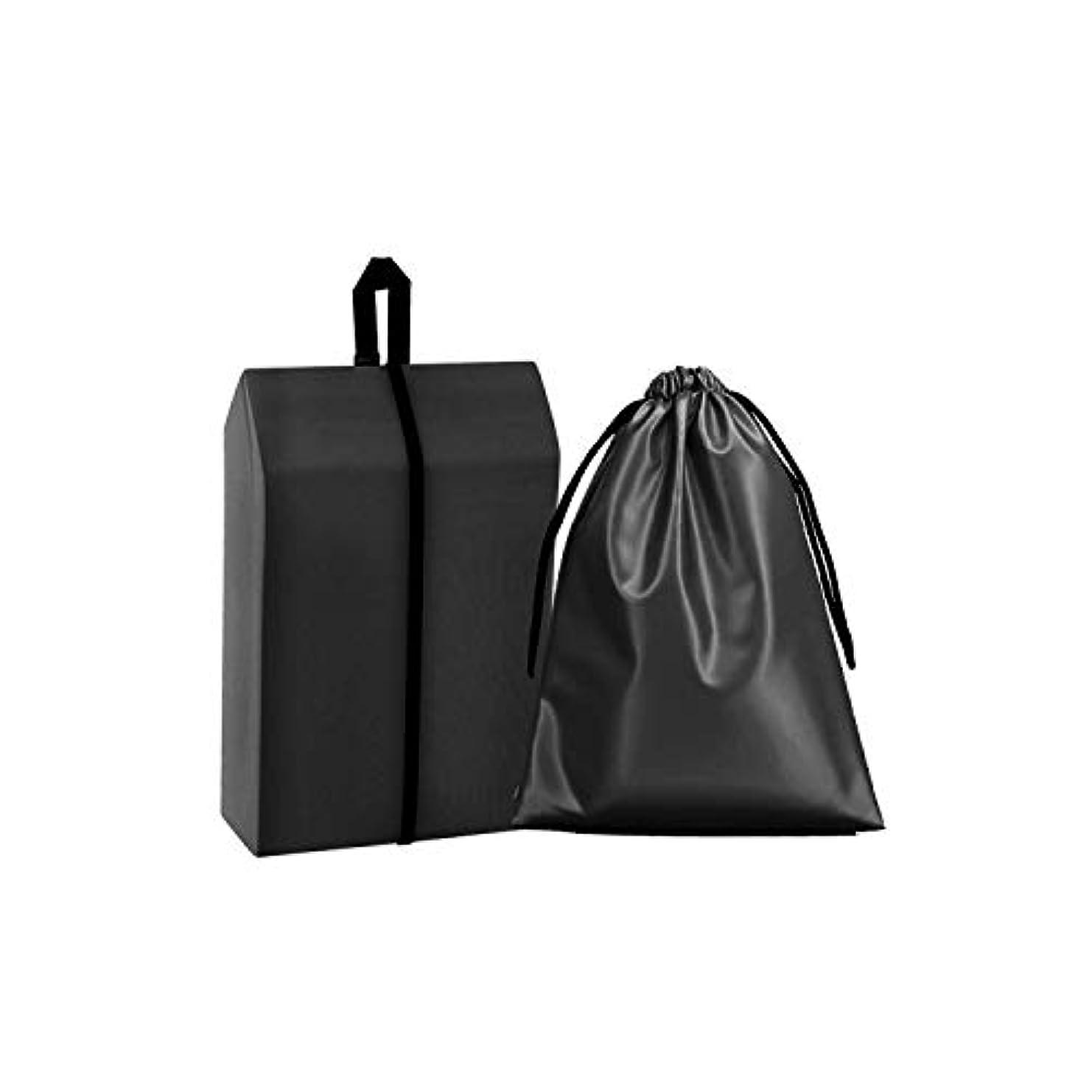 活性化鏡チャーミングシューズケース 巾着袋 靴収納袋 防水 多機能収納 旅行 出張 家庭収納 ブラック 4枚入り