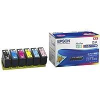 エプソン カラリオプリンター用 インクカートリッジ/カメ(6色パックM/ブラックのみ増量) 〈簡易梱包