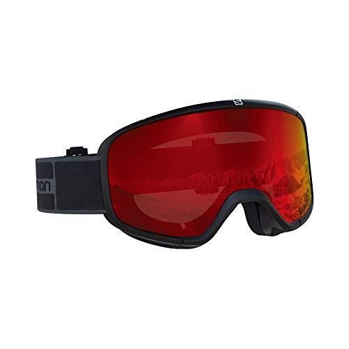サロモン(SALOMON) スキー スノーボード ゴーグル ユニセックス FOUR SEVEN Black-Grey/Mid Red L40516800