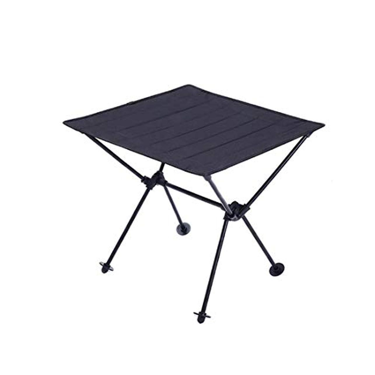 肩をすくめる不利自治多目的防水オックスフォードアルミ折りたたみピクニックテーブル、ライトブルー (Color : ブラック)
