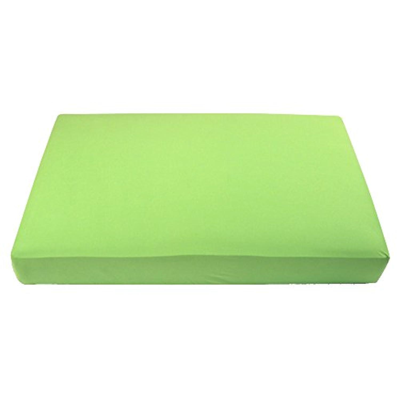 マイBlankeeオーガニックコットンジャージーニットベビーベッドシート-Limeグリーン28