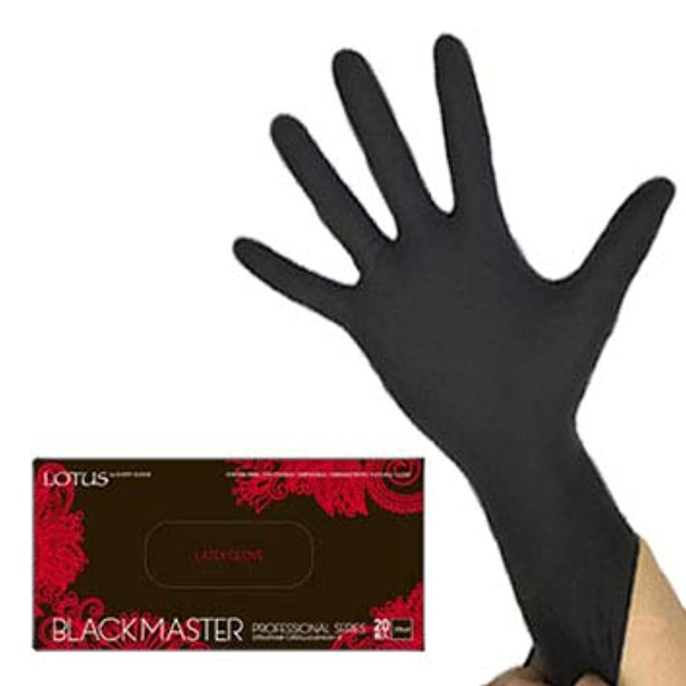 臭い塩そよ風(ロータス)LOTUS ブラックマスターレッド (ラテックス グローブ ロングタイプ 29cm 厚手 左右兼用 20枚入)(S)