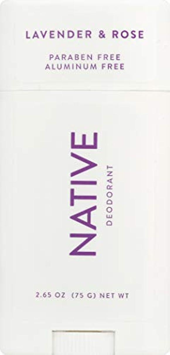 正当な繁栄熱ネイティブ Native ラベンダー & ローズ ナチュラル デオドラント 2.65oz [並行輸入]