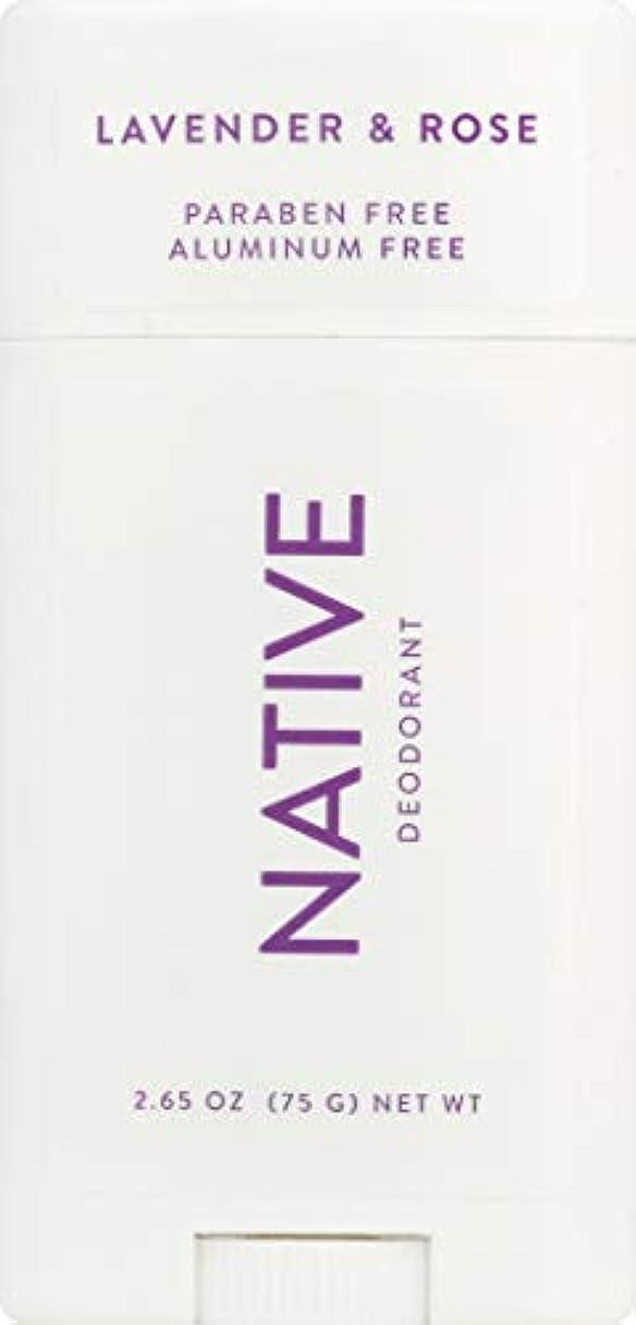 暗記する以下好戦的なネイティブ Native ラベンダー & ローズ ナチュラル デオドラント 2.65oz [並行輸入]