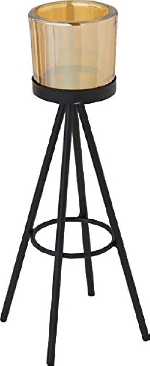亜熱帯電極機関カメヤマキャンドルハウス トライパッドL キャンドルフォルダー ブラックゴールド