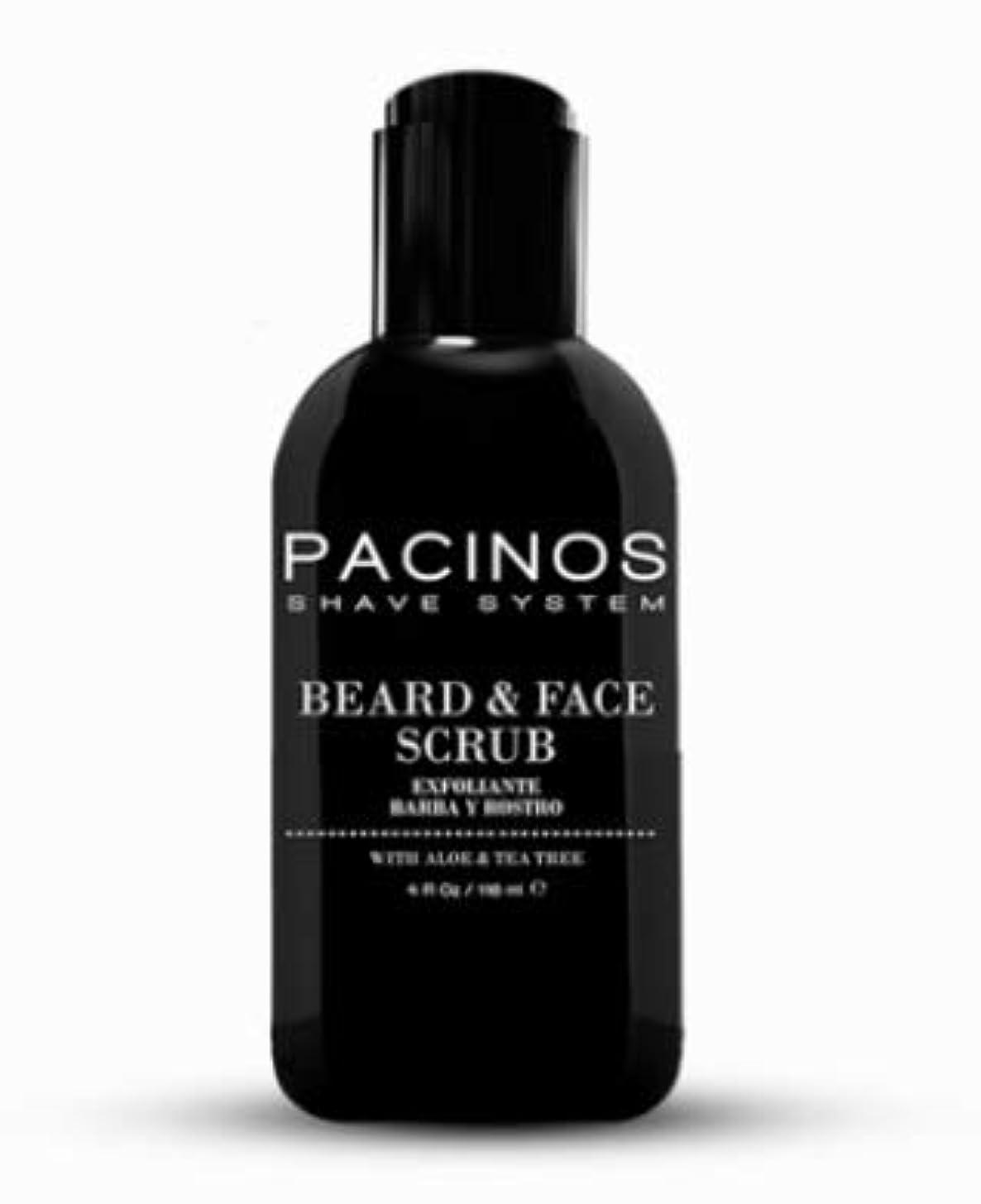 理論エアコン過半数PACINOS Beard & Face Scrub Cleanser
