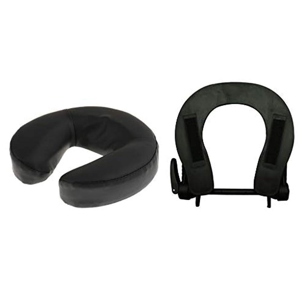 ログ著名なクラッチB Blesiya フェイスマット 顔マクラ マッサージ枕 顔枕 フェイスクレードル 調節可能 マッサージテーブル 汎用