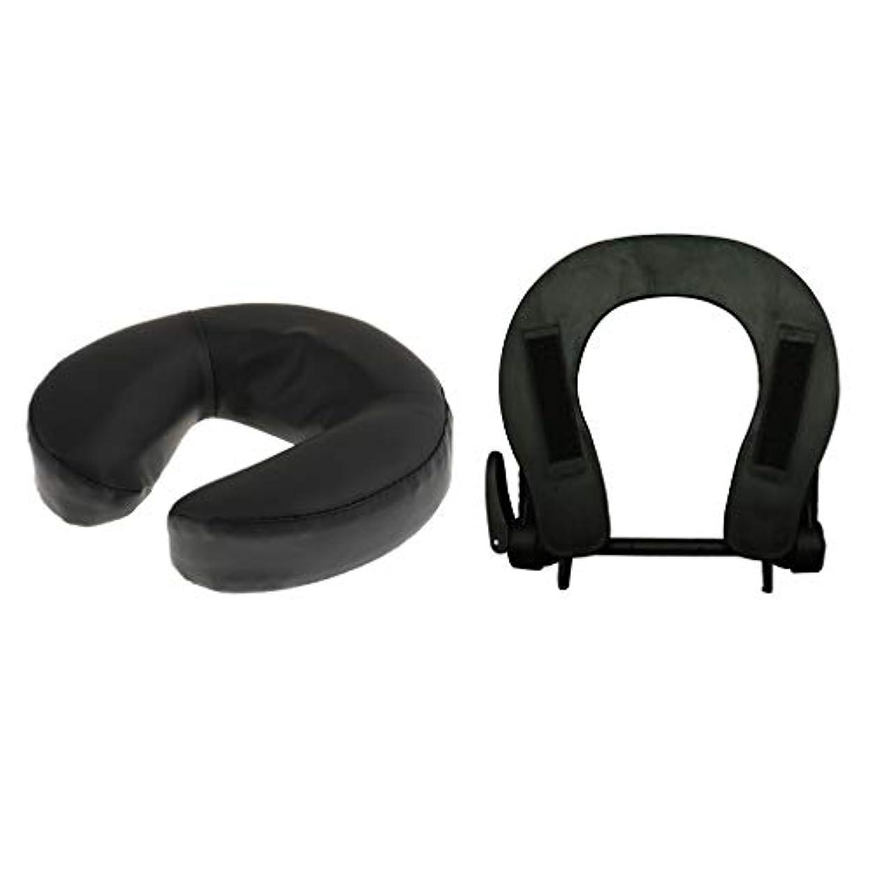 ポイント蒸し器キャリアフェイスマット 顔マクラ マッサージ枕 顔枕 フェイスクレードル 調節可能 マッサージテーブル 汎用