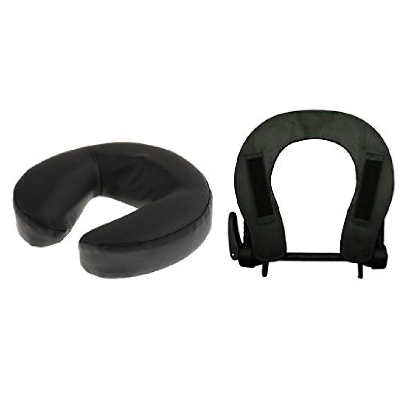 タブレット意見動員するフェイスマット 顔マクラ マッサージ枕 顔枕 フェイスクレードル 調節可能 マッサージテーブル 汎用