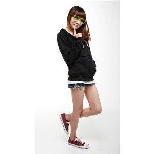 『進撃の巨人 調査兵団 エレン ミカサ ジャージー/ パーカー コスプレ衣装 ブラック Mサイズ Ruleronline』の1枚目の画像