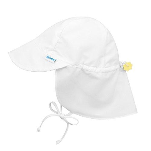 アイプレイ iplay 帽子 フラップサンハット UVカット あごひも付 ベビー キッズ 帽子 INFANT:9-18ヵ月 ホワイト