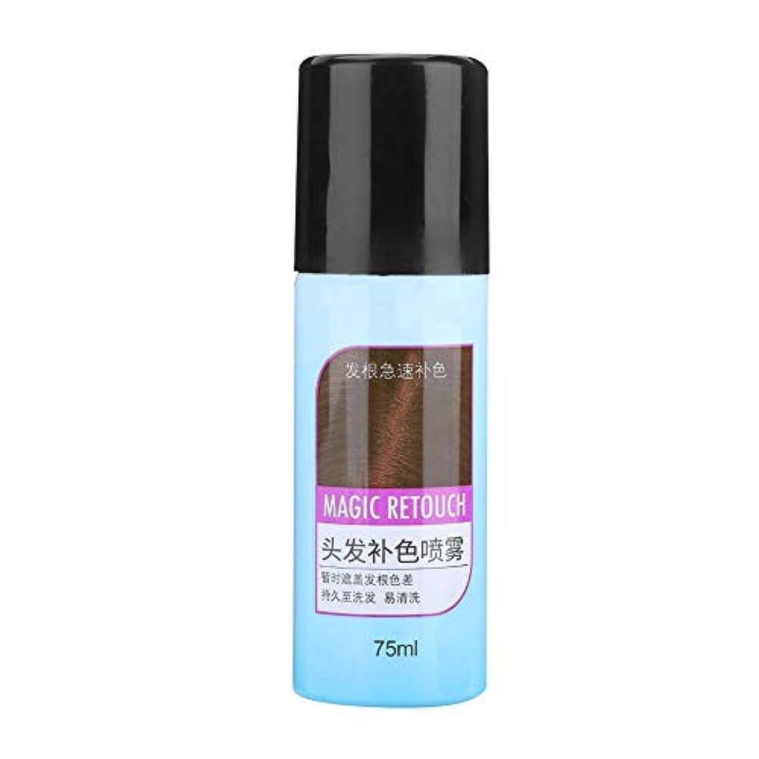 平らな敬意を表するまとめる75mlの染毛剤、3色の使い捨ての養う毛色のスプレーカバー長続きがする(ライト?ブラウン)