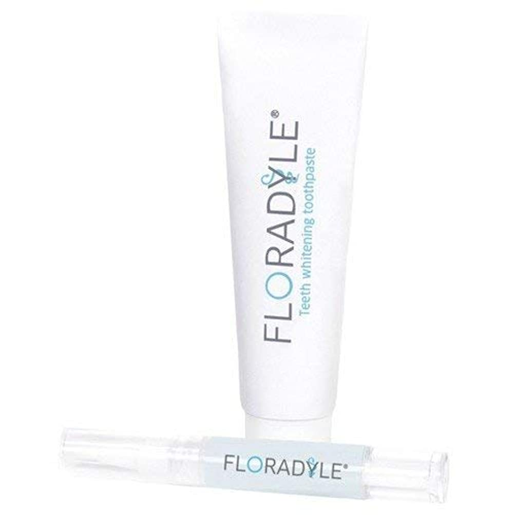 組み立てるつかまえるアーカイブFloradyle(フロラダイル) ホワイトニングジェル&ホワイトニング歯磨き粉 セット