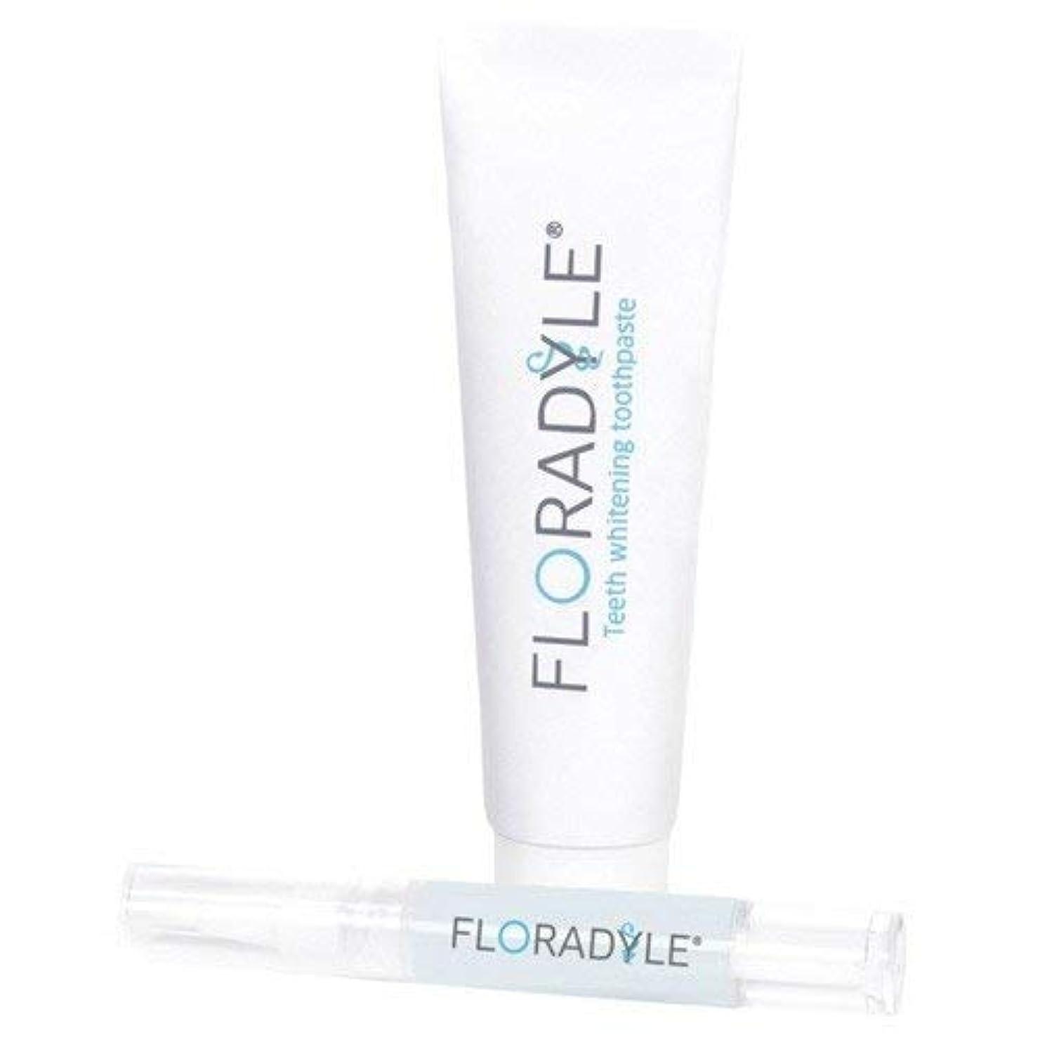 連邦若さストライプFloradyle(フロラダイル) ホワイトニングジェル&ホワイトニング歯磨き粉 セット