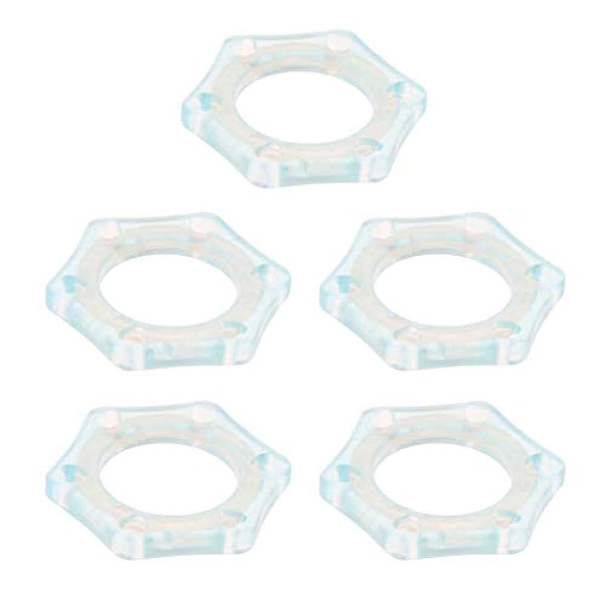 巨大媒染剤戦うF Fityle 5個セット マイクスリップ マイク保護リング 滑り止め 夜光 マイクアクセサリー 全3色 - ライトブルー