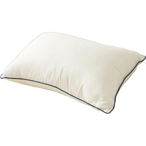枕 ウォッシャブル 洗える 清潔 パイピング付き 63×43cm アイボリー