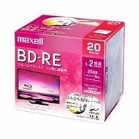 【まとめ 4セット】 maxell BEV25WPE20S 録画用BD-RE ひろびろ美白レーベルディスク 1-2倍 25GB 20枚 うす型5mmケース
