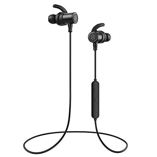 【IPX7完全防水 防汗進化】SoundPEATS(サウンドピーツ) Q30 Plus Bluetooth イヤホン 高音質 低音重視 8時間連続再生 apt-Xコーデック採用 人間工学設計 マグネット搭載 CVC6.0ノイズキャンセリング マイク付き ハンズフリー通話 ブルートゥース イヤホン ワイヤレス イヤホン Bluetooth ヘッドホンメーカー1年保証 ブラック