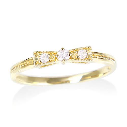 [ジュエリーツツミ]JEWELRY TSUTSUMI K10イエローゴールドダイヤモンドリング RFR004-001 10号